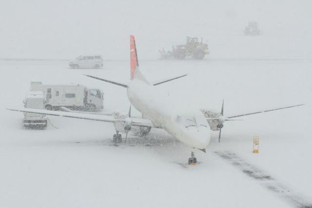 雪で飛行機が欠航になる条件