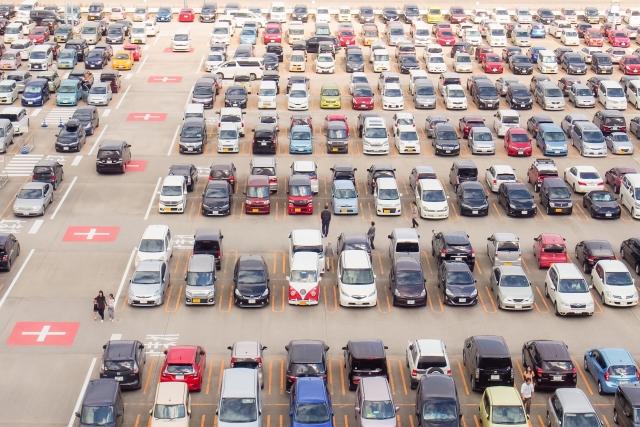 混雑時の駐車場