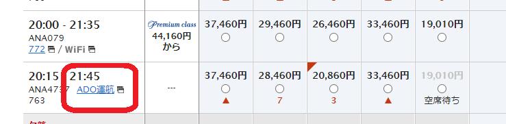 エアドゥ・ANA 共同運航便