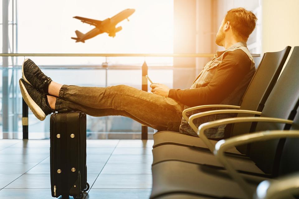 空港 夕日